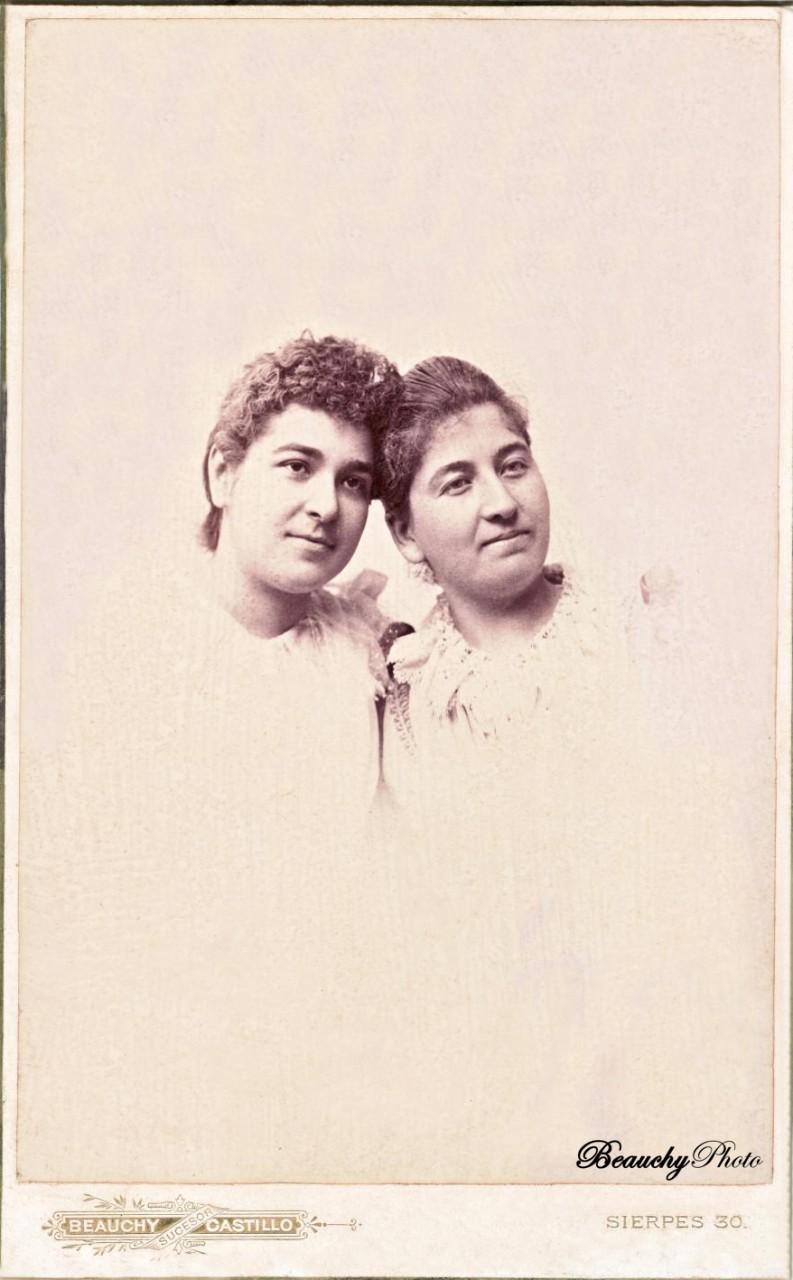 Retrato de dos damas desconocidas