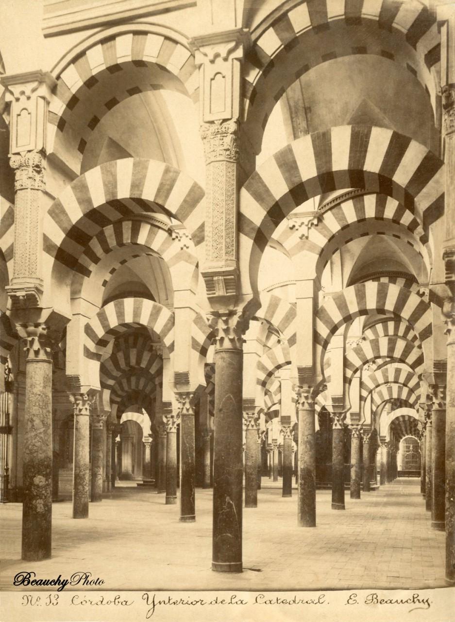 Beauchyphoto_Interior-de_la_Catedral_Cordoba_ca_1880_Emilio_Beauchy_Cano_fotografias_antiguas_postales_vistas_y_monumentos