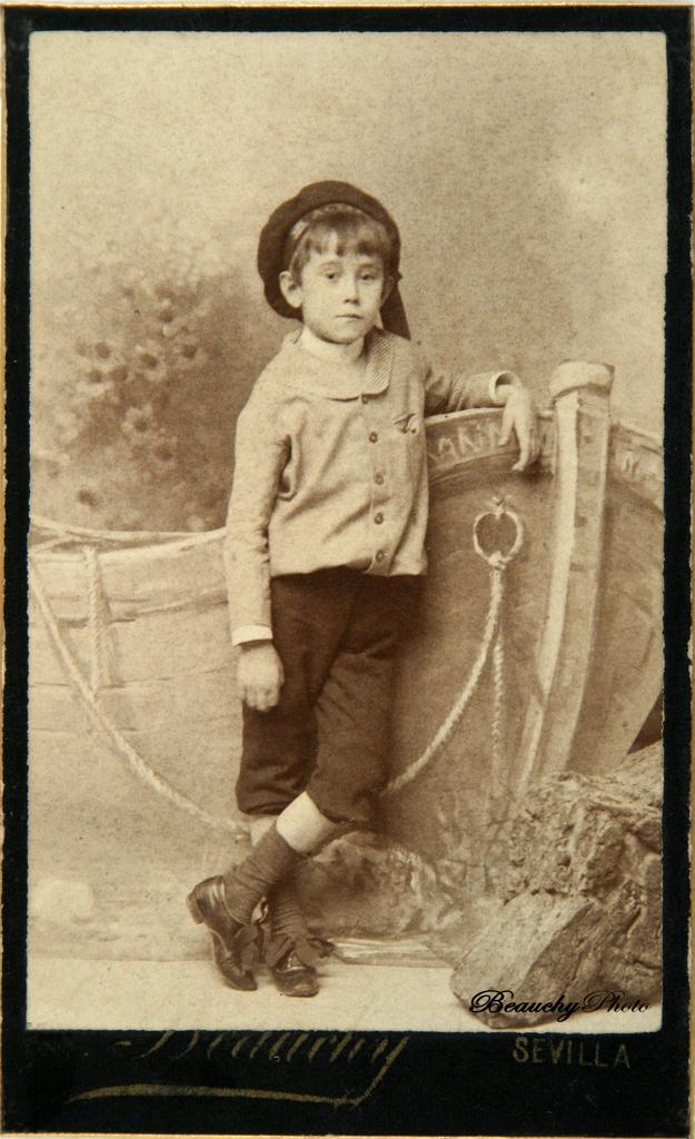 Joaquín Turina de niño