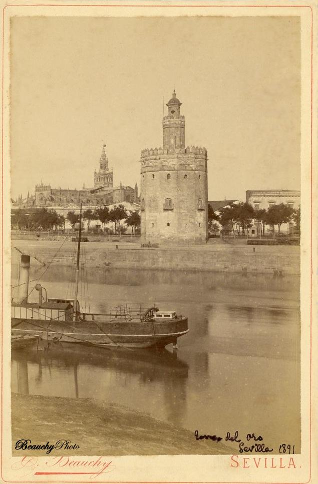 Beauchyphoto_Torre_del_Oro_Sevilla_ca_1891_Emilio_Beauchy_Cano_fotografias_antiguas_postales_vistas_y_monumentos