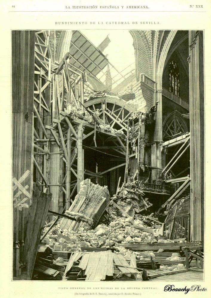 beauchyphoto_hundimiento_en_la_catedral-revista_la_ilustracion_emilio_beauchy_cano_fotografias_antiguas_postales_hechos_historicos