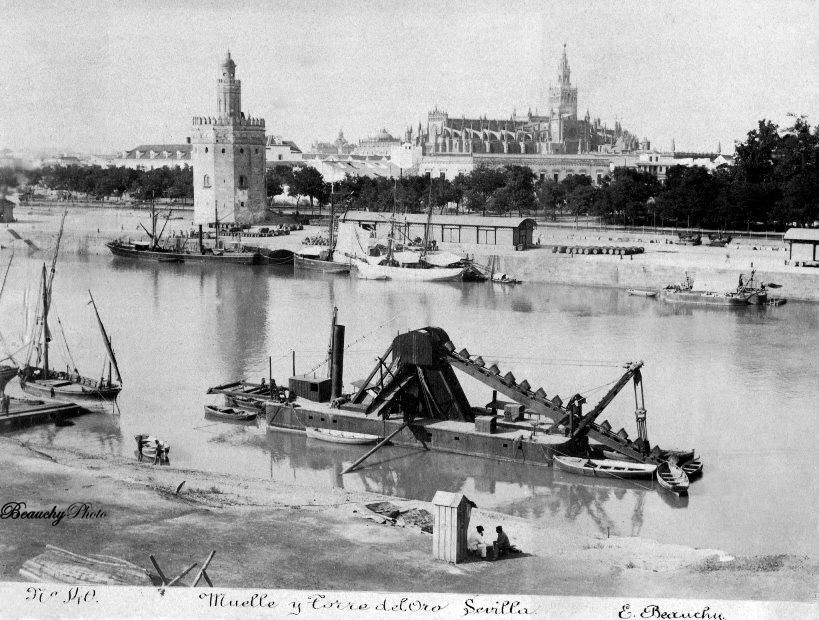 beauchyphoto_muelle_y_torre_del_oro_sevilla_ca_1880_emilio_beauchy_cano_fotografias_antiguas_postales_vistas_y_monumentos