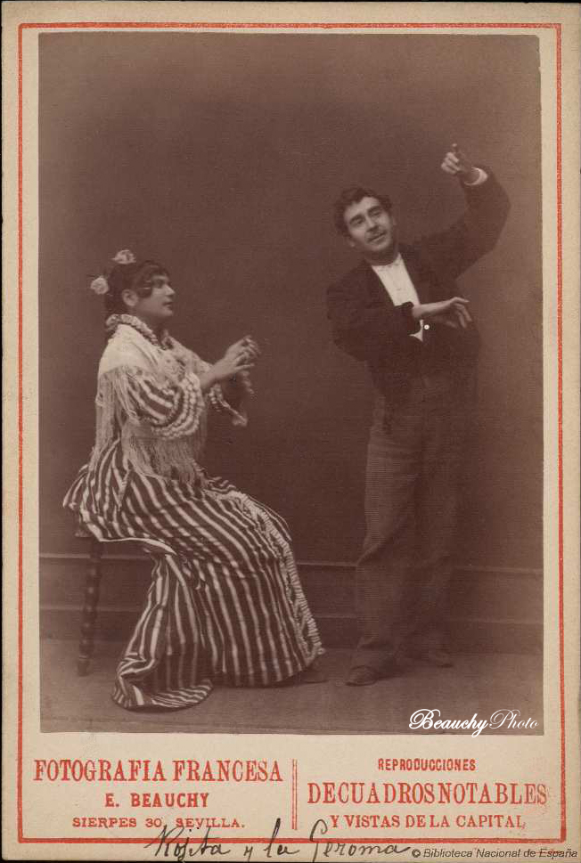 beauchyphoto_rojitas_bailando_y_la_jeroma_tocando_las_palmas_emilio_beauchy_cano_fotografias_antiguas_postales_retratos_flamenco