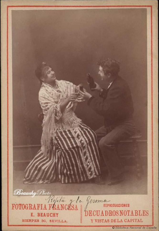 beauchyphoto_rojitas_y_la_jeroma_sentados_bebiendo_emilio_beauchy_cano_fotografias_antiguas_postales_retratos_flamenco