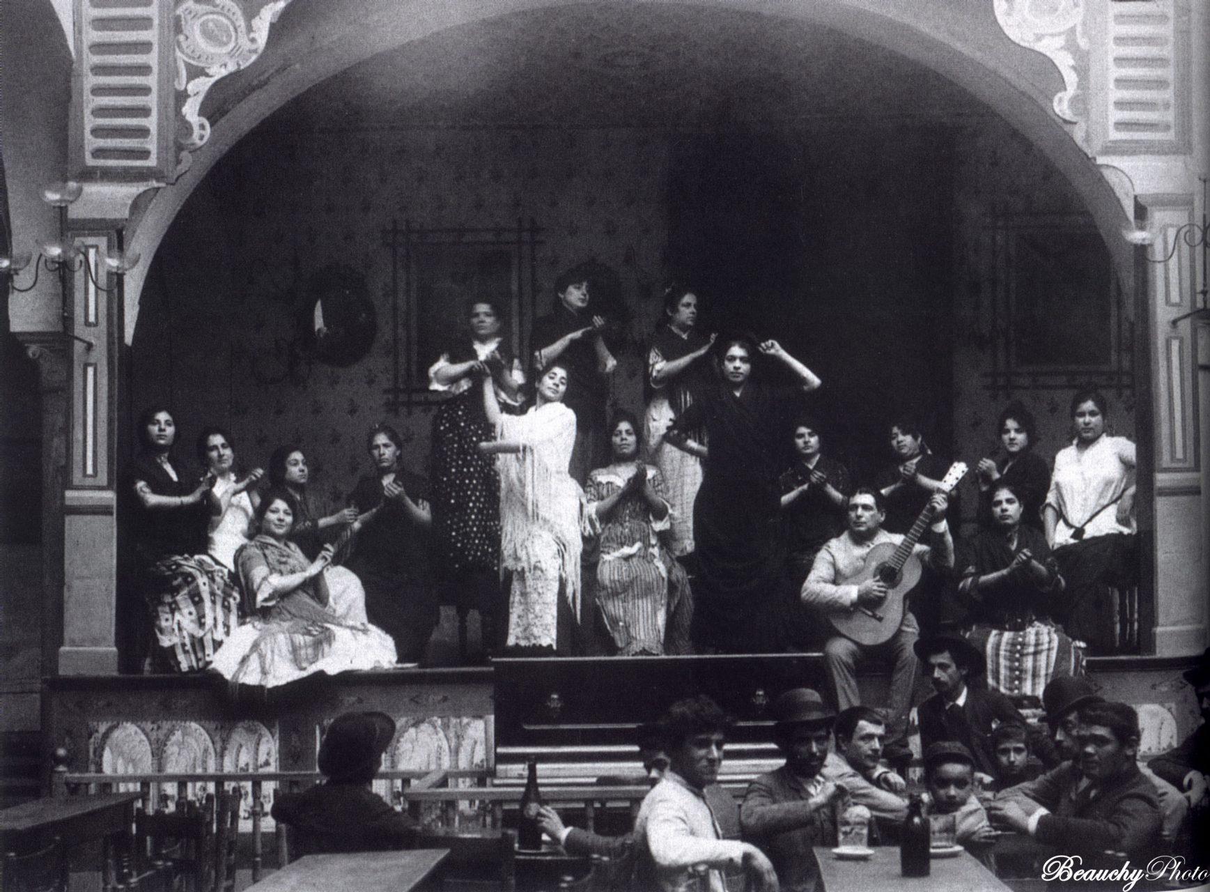 Fotografía Café Cantante El Burrero de Emilio Beauchy Cano (1885-1888), Colección Teixidor