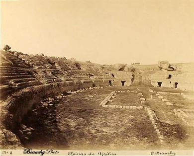 Beauchyphoto_Ruinas de Itálica_Anfiteatro_3_Emilio_Beauchy_Cano_fotografias_antiguas_postales_vistas_y_monumentos