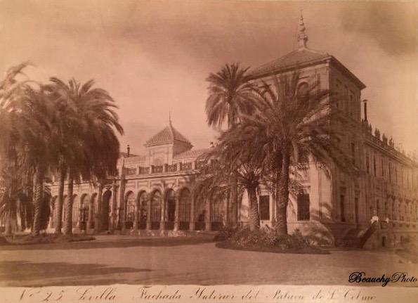 Beauchyphoto_Fachada_Interior_del_Palacio_de_San_Telmo_1880_Emilio_Beauchy_Cano_fotografias_antiguas_postales_vistas_y_monumentos