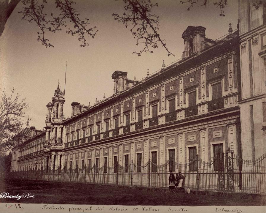 Beauchyphoto_Fachada_Principal_del_Palacio_de_San_Telmo_Emilio_Beauchy_Cano_fotografias_antiguas_postales_vistas_y_monumentos