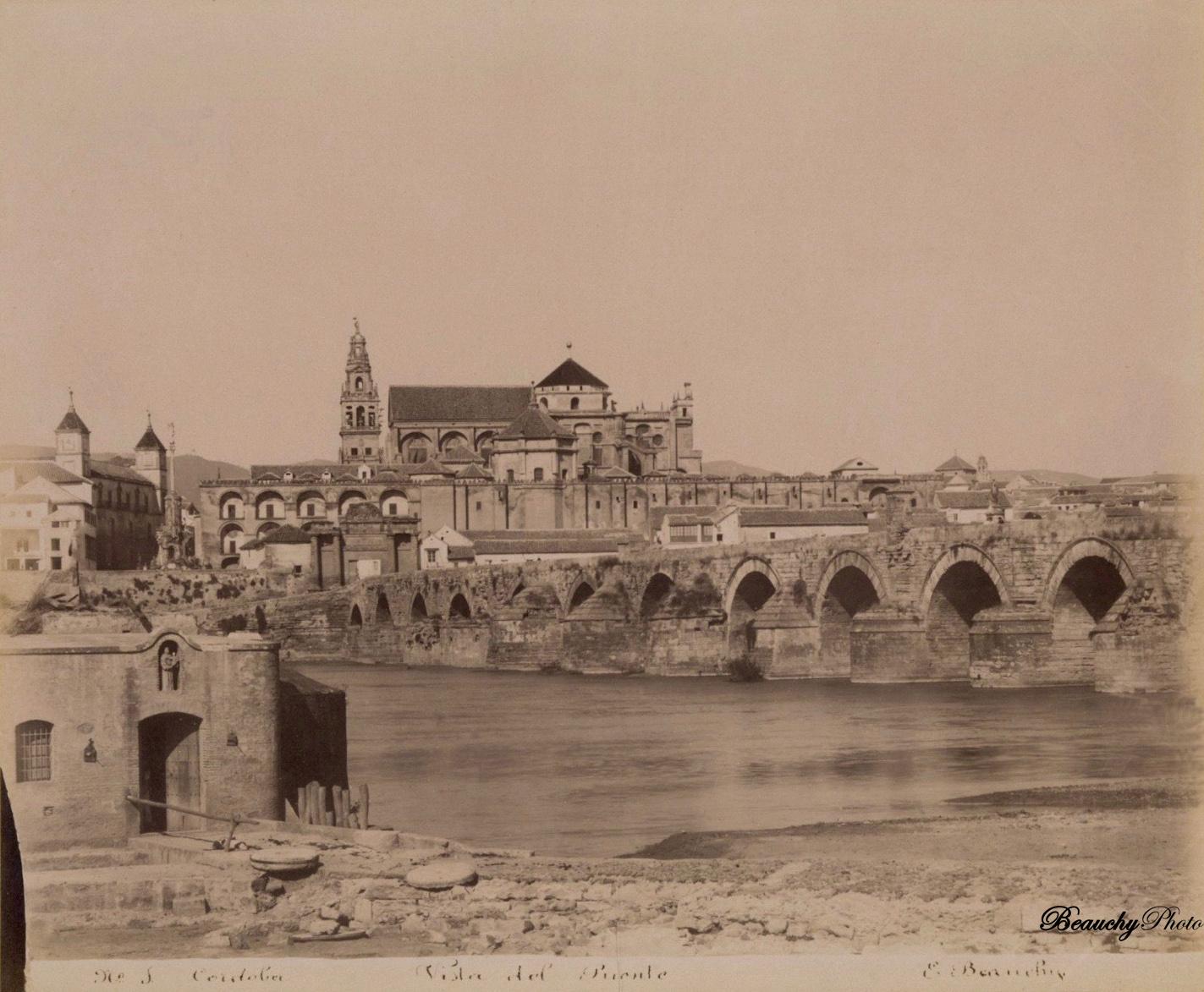 Beauchyphoto_Córdoba-Vista_del_Puente_02_c.1880_Emilio_Beauchy_Cano_fotografias_antiguas_postales_vistas_y_monumentos
