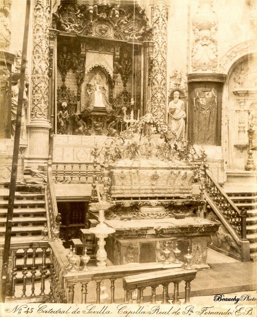 Beauchyphoto_Catedral_de_Sevilla_Capilla_Real_de_San_Fernando_c.1880_Emilio_Beauchy_Cano_fotografias_antiguas_postales_vistas_y_monumentos
