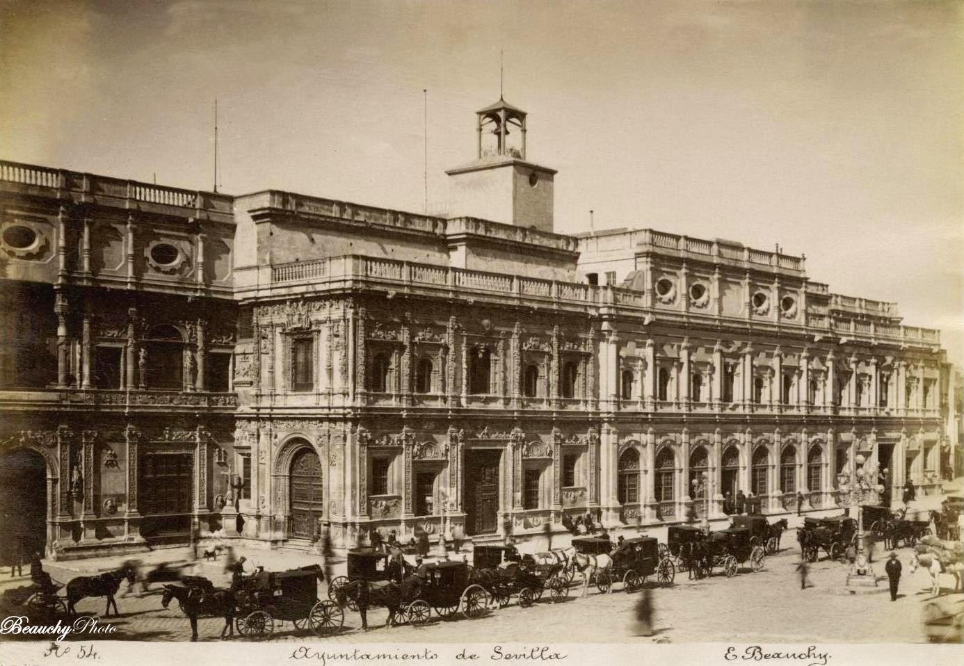 Beauchyphoto_Ayuntamiento_de_Sevilla_(3)_1890_Emilio_Beauchy_Cano_fotografias_antiguas_postales_vistas_y_monumentos