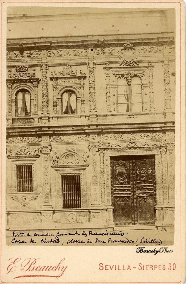 Beauchyphoto_Ayuntamiento_de_Sevilla_Detalle_Emilio_Beauchy_Cano_fotografias_antiguas_postales_vistas_y_monumentos