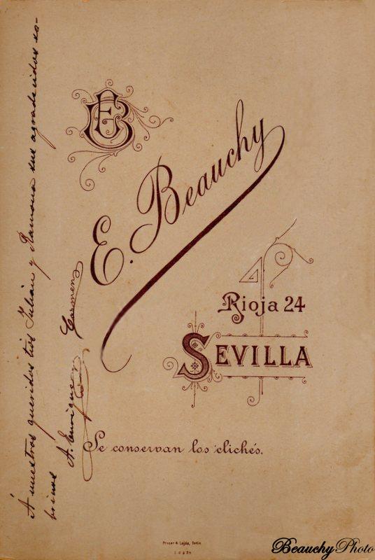 Beauchyphoto_Matrimonio_sevillano_Reverso_Emilio_Beauchy_Cano_fotografias_antiguas_postales_retratos