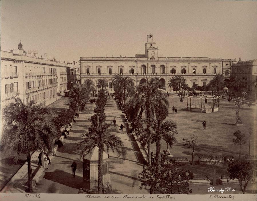Beauchyphoto_Plaza_de_San_Fernando_2_Sevilla_Emilio_Beauchy_Cano_fotografias_antiguas_postales_vistas_y_monumentos