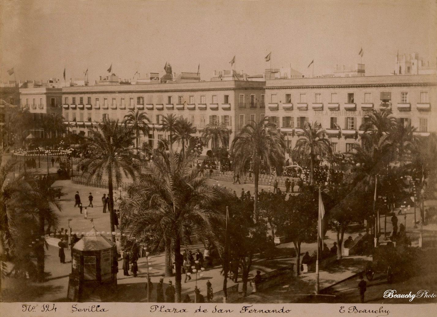 Beauchyphoto_Plaza_de_San_Fernando_3_Sevilla_Emilio_Beauchy_Cano_fotografias_antiguas_postales_vistas_y_monumentos