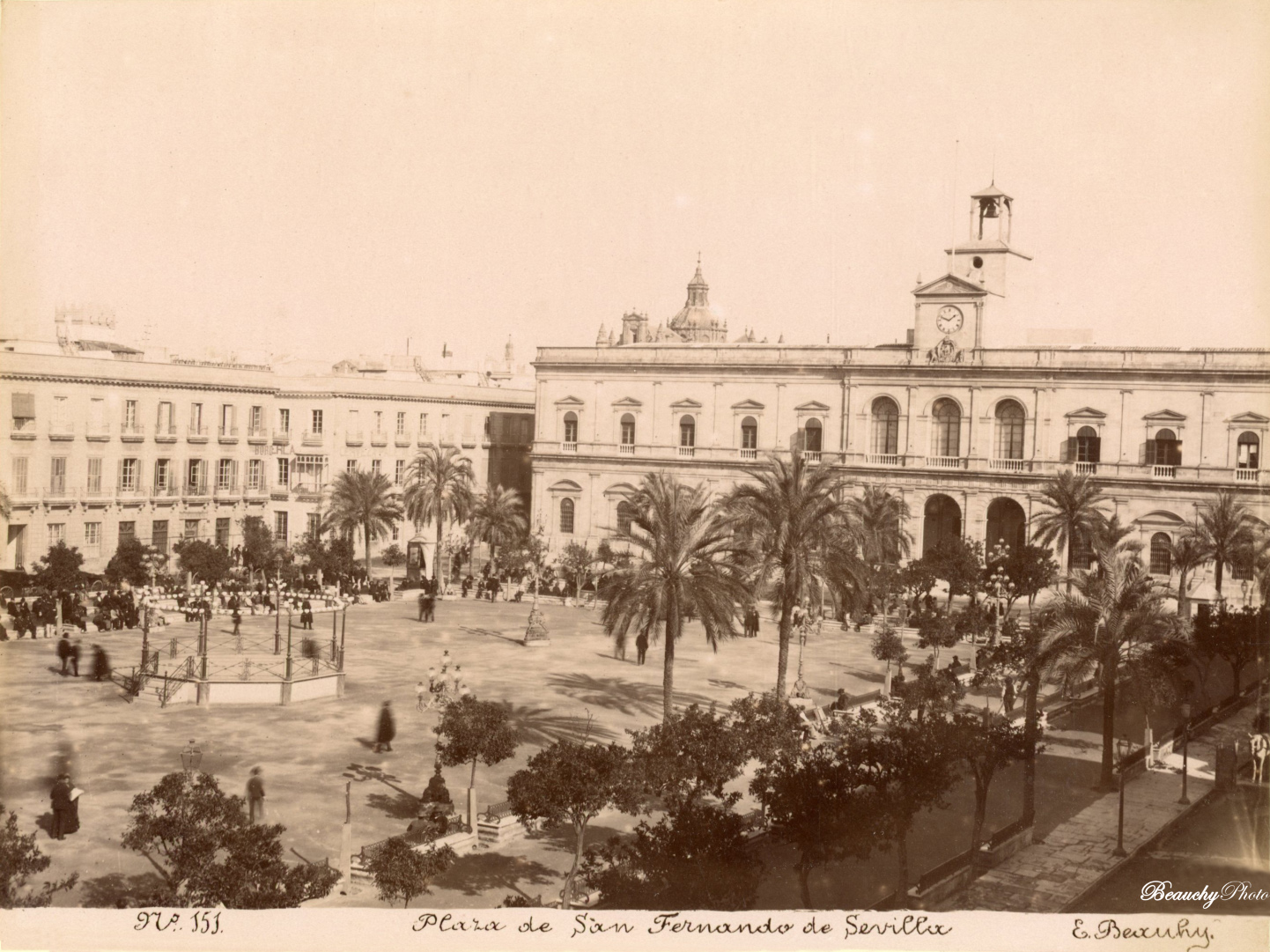 Beauchyphoto_Plaza_de_San_Fernando_Sevilla_c.1880_Emilio_Beauchy_Cano_fotografias_antiguas_postales_vistas_y_monumentos