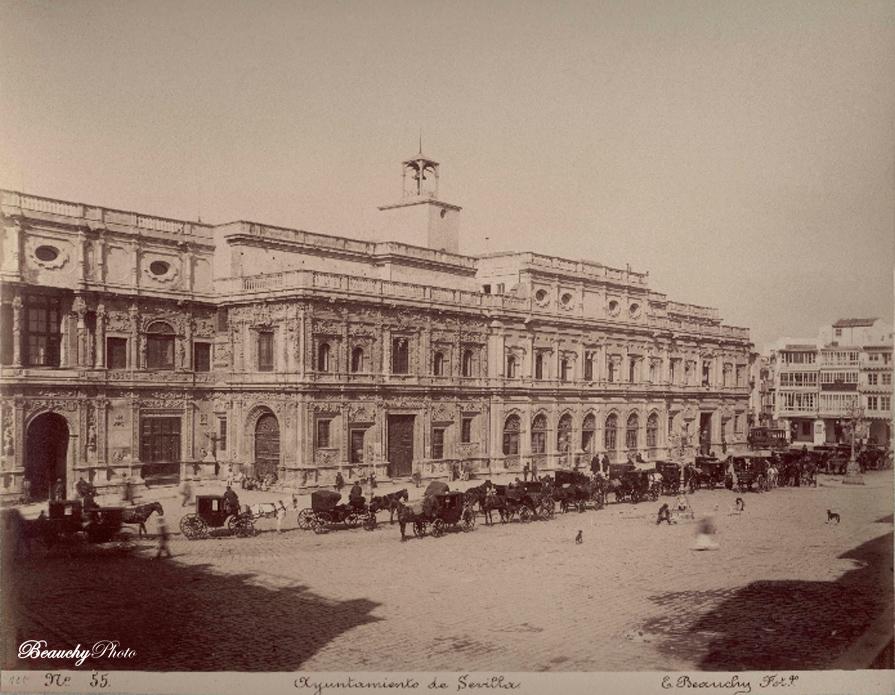 Beauchyphoto_Plaza_de_San_Francisco-Ayuntamiento_de_Sevilla_1886_Emilio_Beauchy_Cano_fotografias_antiguas_postales_vistas_y_monumentos