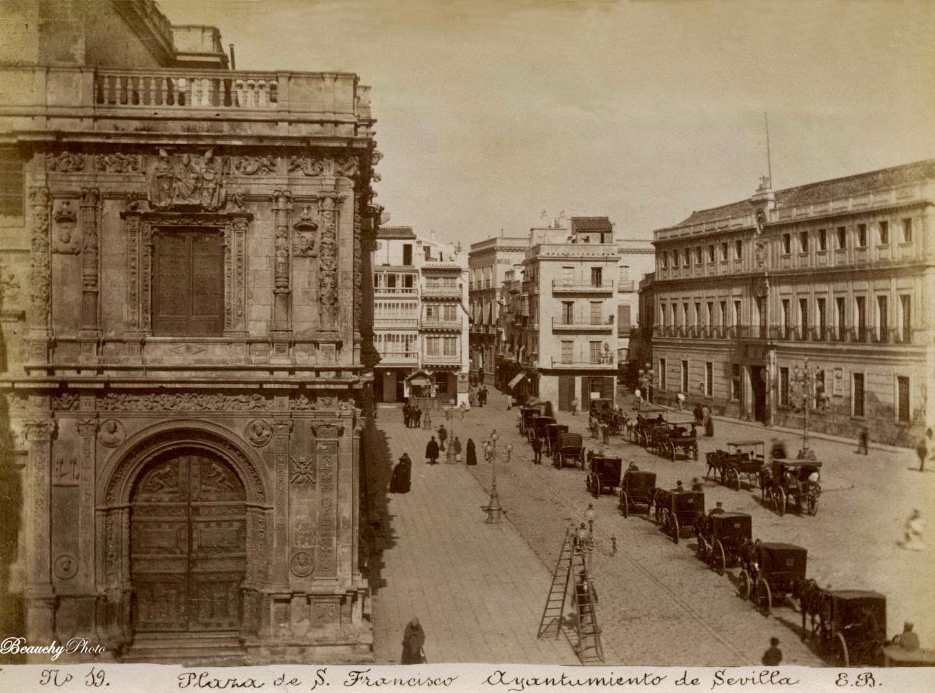 Beauchyphoto_Plaza_de_San_Francisco_Ayuntamiento_de_Sevilla_(4)_1890_Emilio_Beauchy_Cano_fotografias_antiguas_postales_vistas_y_monumentos