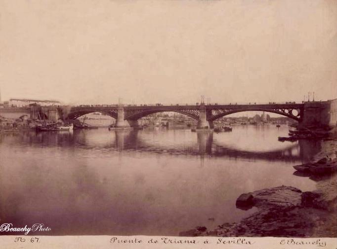 Beauchyphoto_Puente_de_Triana_a_Sevilla_Emilio_Beauchy_Cano_fotografias_antiguas_postales_vistas_y_monumentos