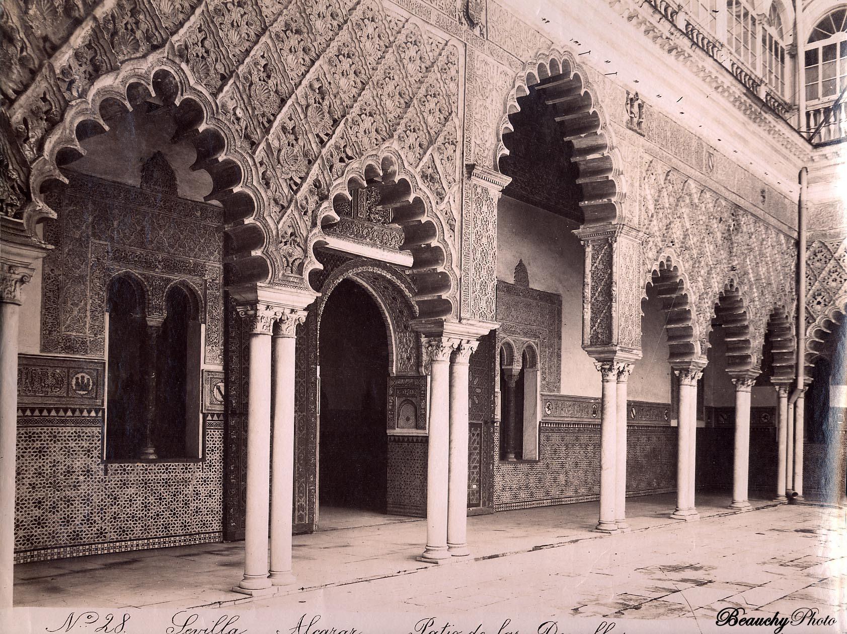 Beauchyphoto_Alcázar_de_Sevilla_Patio_de_las_Doncellas_3_Emilio_Beauchy_Cano_fotografias_antiguas_postales_vistas_y_monumentos