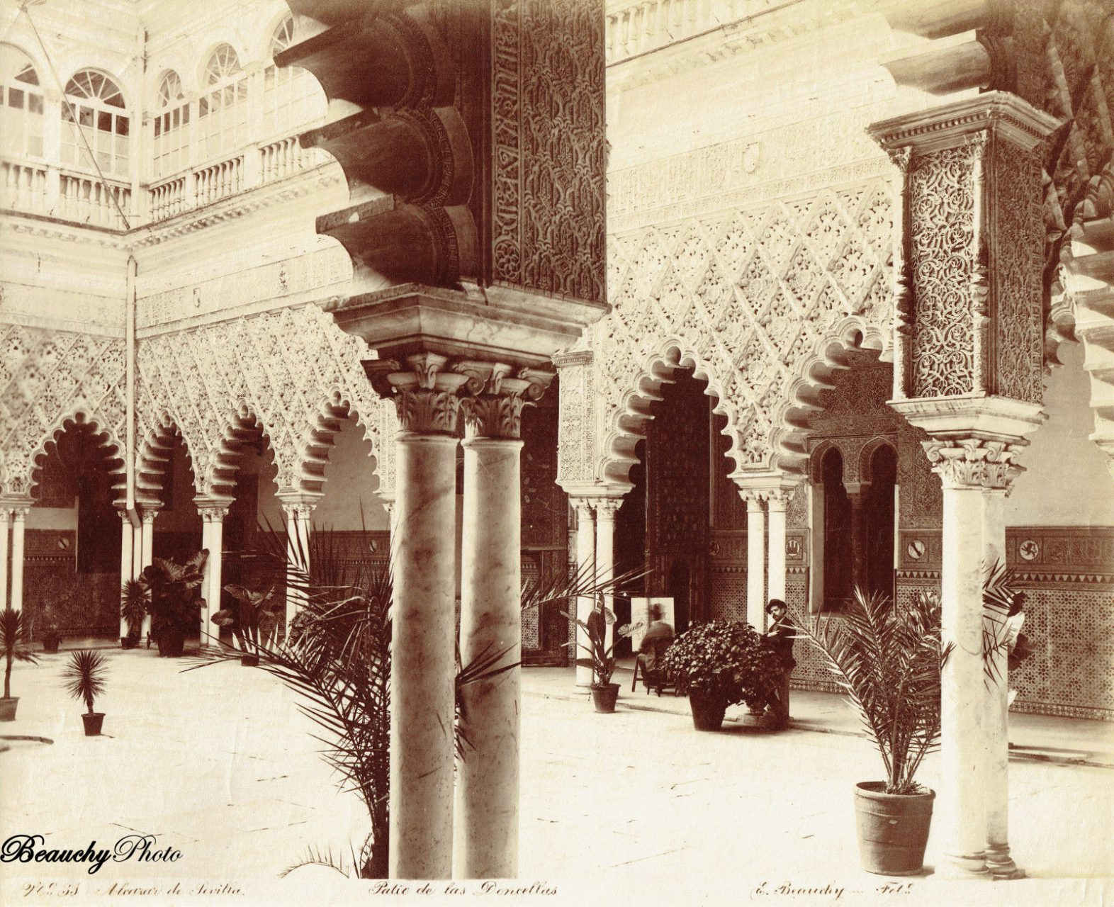 Beauchyphoto_Alcázar_de_Sevilla_Patio_de_las_Doncellas_Emilio_Beauchy_Cano_fotografias_antiguas_postales_vistas_y_monumentos