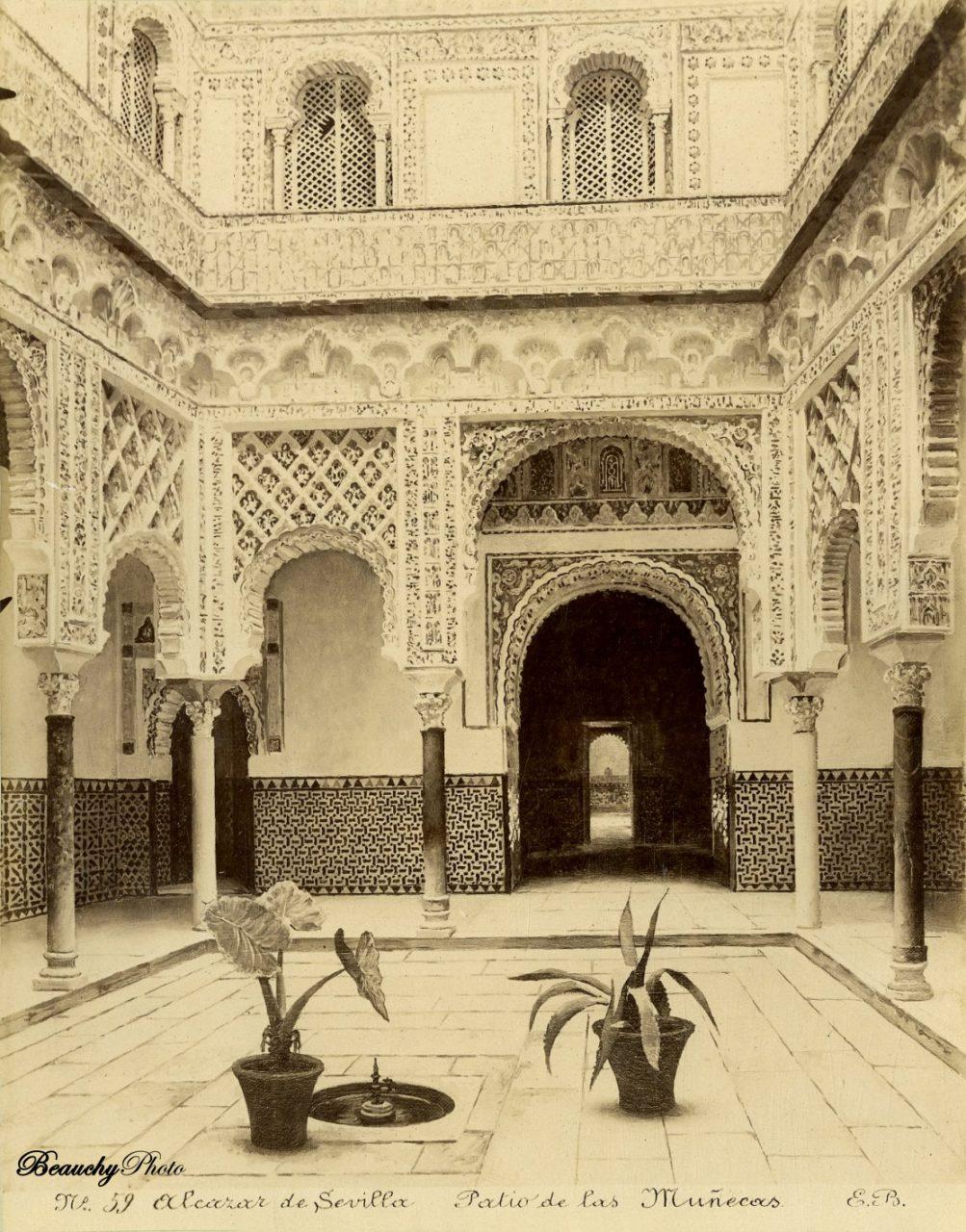 Beauchyphoto_Alcázar_de_Sevilla_Patio_de_las_Muñecas_Emilio_Beauchy_Cano_fotografias_antiguas_postales_vistas_y_monumentos