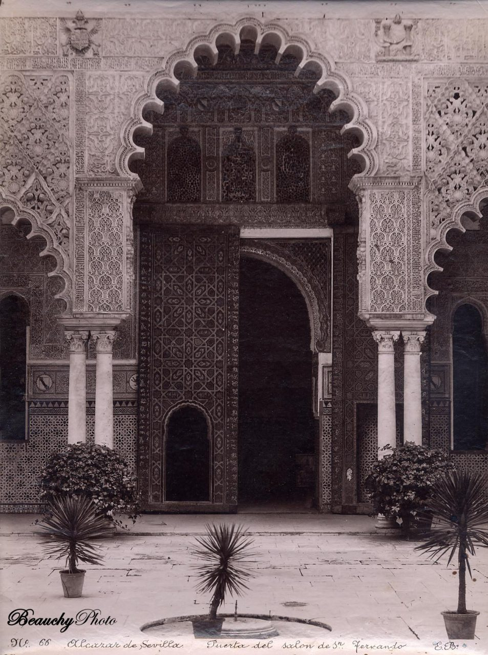 Puerta del Salón de San Fernando del Alcázar de Sevilla 1880