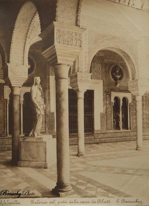 Beauchyphoto_Galeria_del_Patio_de_la_Casa_de_Pilato_Emilio_Beauchy_Cano_fotografias_antiguas_postales_vistas_y_monumentos