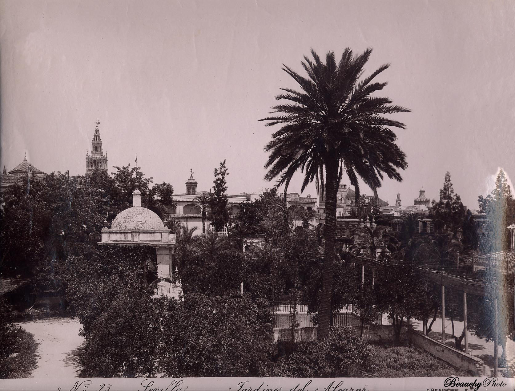 Jardín de las Damas de los Jardines del Alcázar 1880