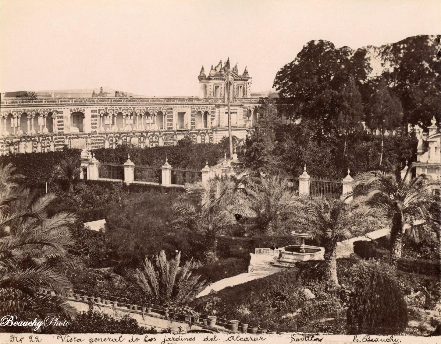 Beauchyphoto_Jardines_del_Alcázar_de_Sevilla_c1880_Emilio_Beauchy_Cano_fotografias_antiguas_postales_vistas_y_monumentos
