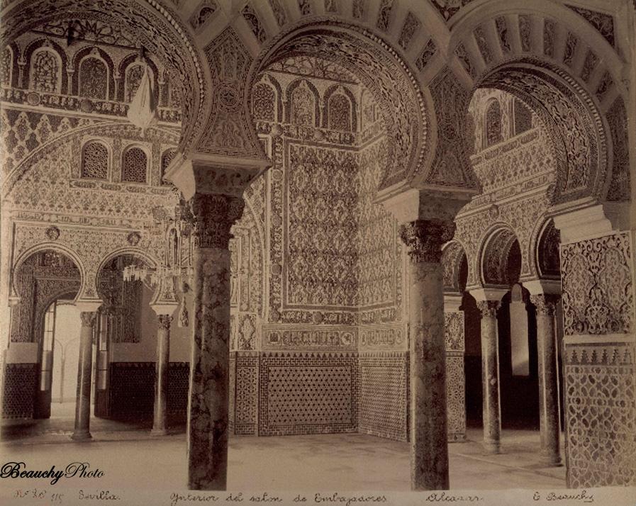 Beauchyphoto_Salón de Embajadores_Alcázar_Sevilla_Emilio_Beauchy_Cano_fotografias_antiguas_postales_vistas_y_monumentos