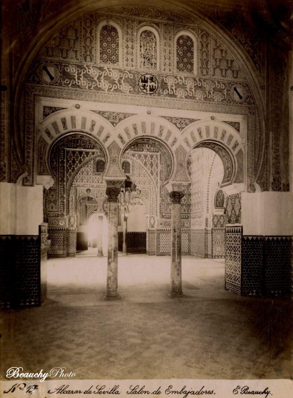 Beauchyphoto_Salón_de_Embajadores_2_Alcázar_Sevilla_c1875_Emilio_Beauchy_Cano_fotografias_antiguas_postales_vistas_y_monumentos