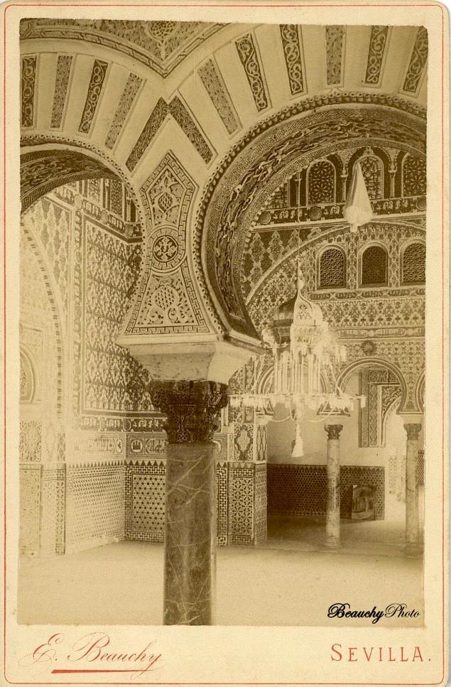 Beauchyphoto_Salón_de_Embajadores_3_Alcázar_Sevilla_Emilio_Beauchy_Cano_fotografias_antiguas_postales_vistas_y_monumentos