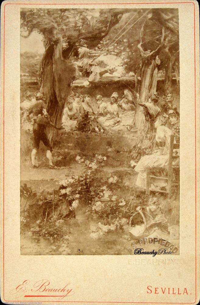 Cuadro Juegos en el bosque del legado de Joaquín Turina