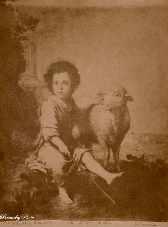 Cuadro El Divino Pastor de Murillo 1870