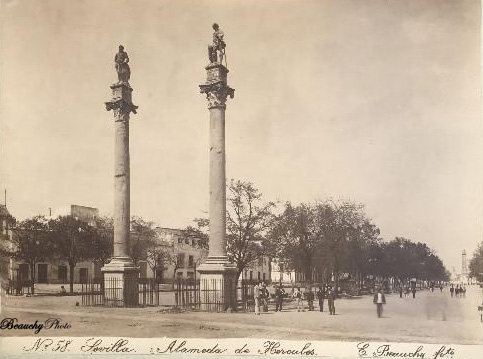 Beauchyphoto_Alameda_de_Hércules_3_Sevilla-1898_Emilio_Beauchy_Cano_fotografias_antiguas_postales_vistas_y_monumentos