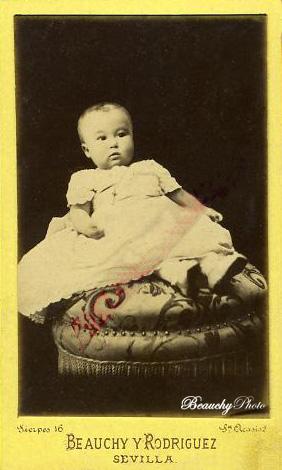 Tarjeta de visita de un bebé