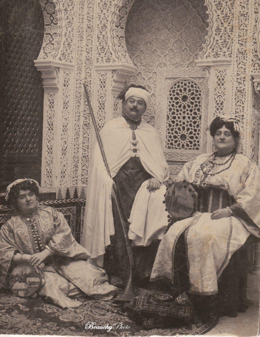 Autorretratos de Julio Beauchy García, de su mujer y su tía