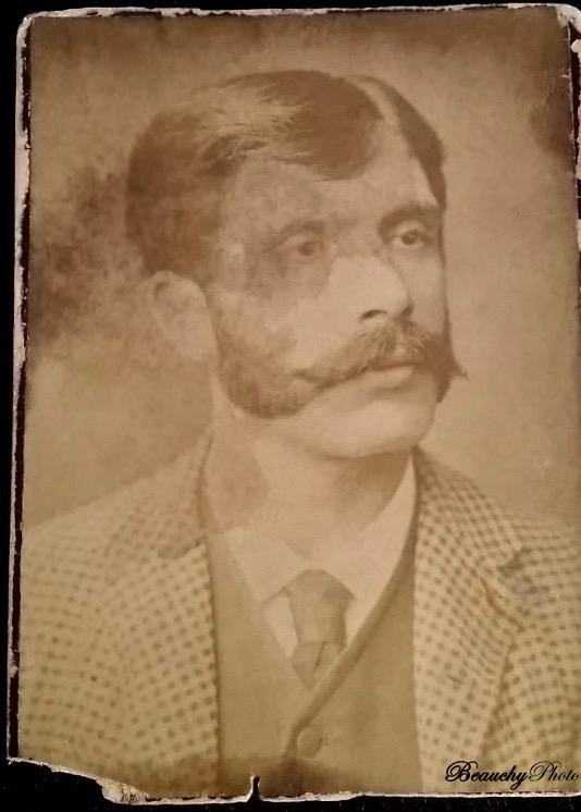 Retrato de Rafael Anzón bisabuelo de Patricia Roxana