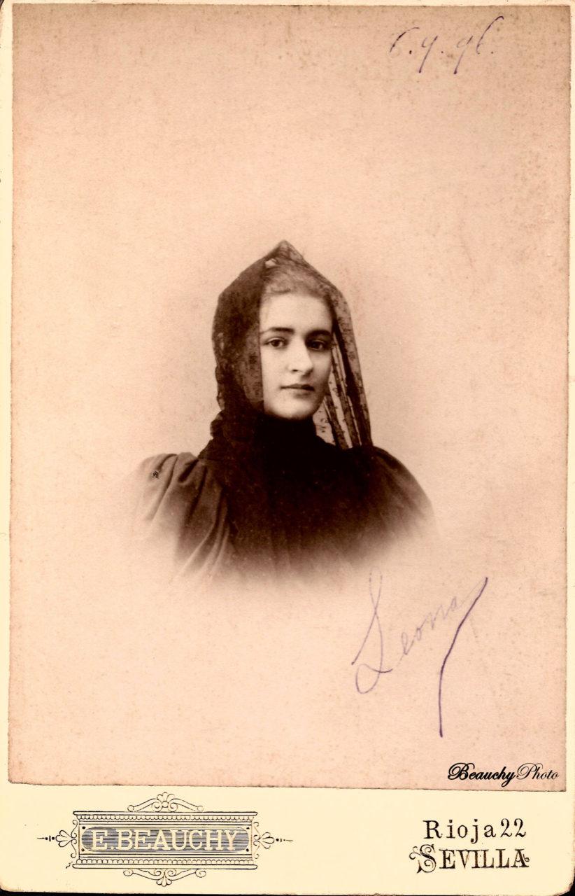 Leona Manjón Zaratiegui, hija del marqués de Méritos