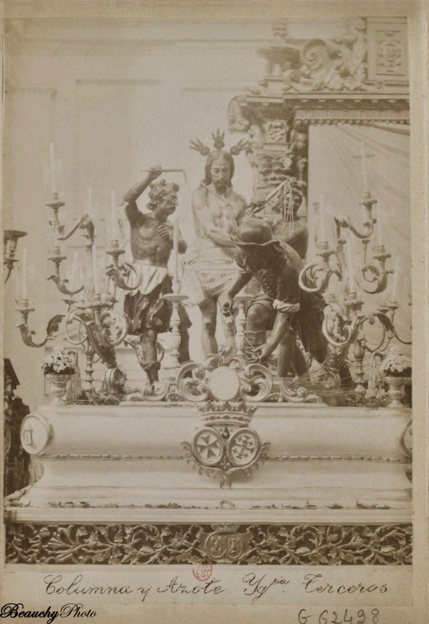 Columna y Azote del paso de la cofradía de los Terceros