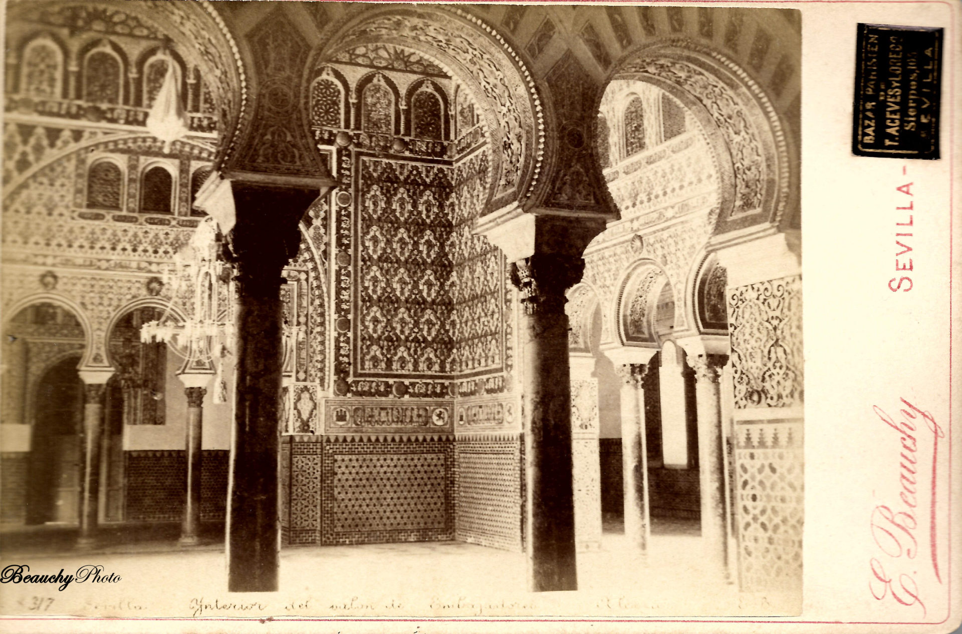 Interior del Salón de Embajadores del Real Alcázar de Sevilla