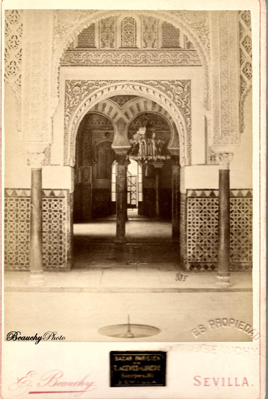 Entrada al Salón de Embajadores del Alcázar de Sevillatiguas_postales_vistas_y_monumentos