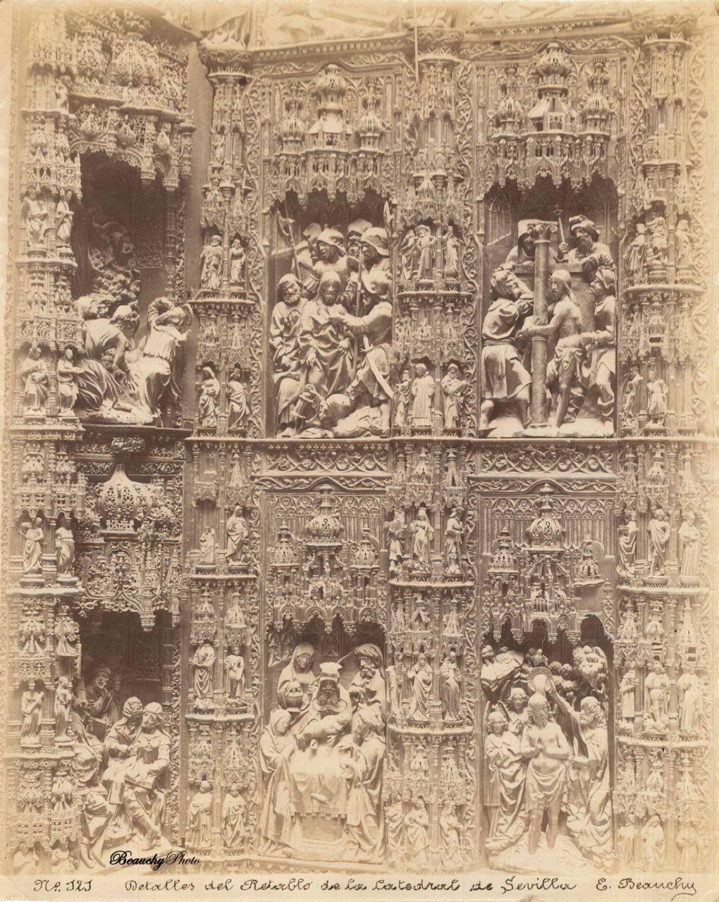 Detalles del Retablo de la Catedral de Sevilla