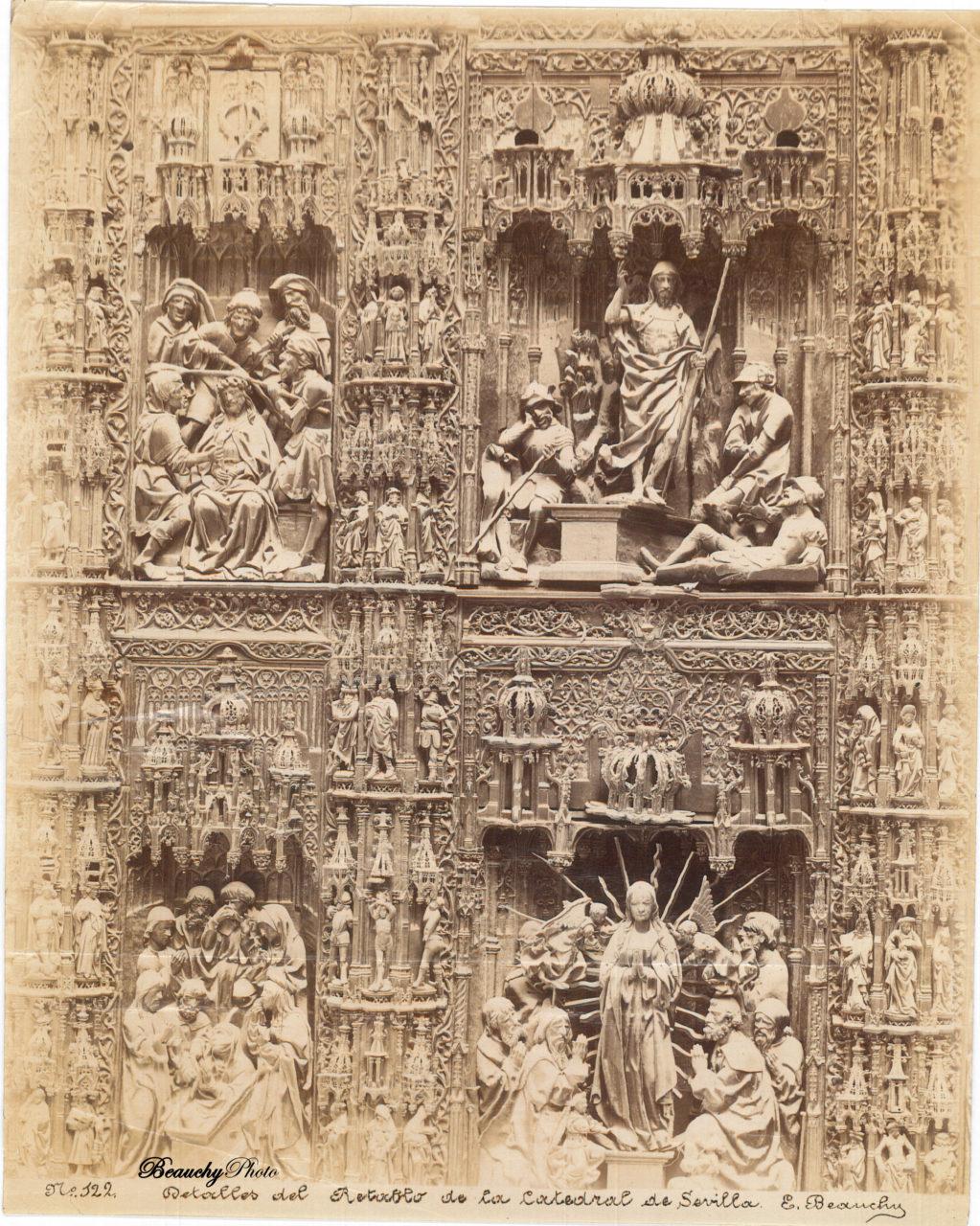 Beauchyphoto_Detalles_del_Retablo_de_la_Catedral_de_Sevilla_2_Emilio_Beauchy_Cano_fotografias_antiguas_postales_vistas_y_monumentos