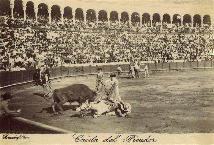 Beauchyphoto_Caida_del_Picador_Emilio_Beauchy_Cano_fotografias_antiguas_postales_toros