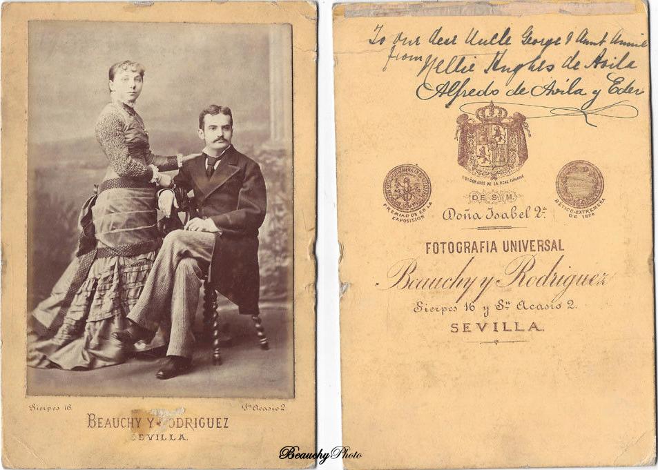 Alfredo de Ávila y señora