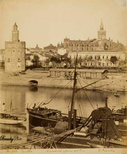 Muelle y Torre del Oro de Sevilla