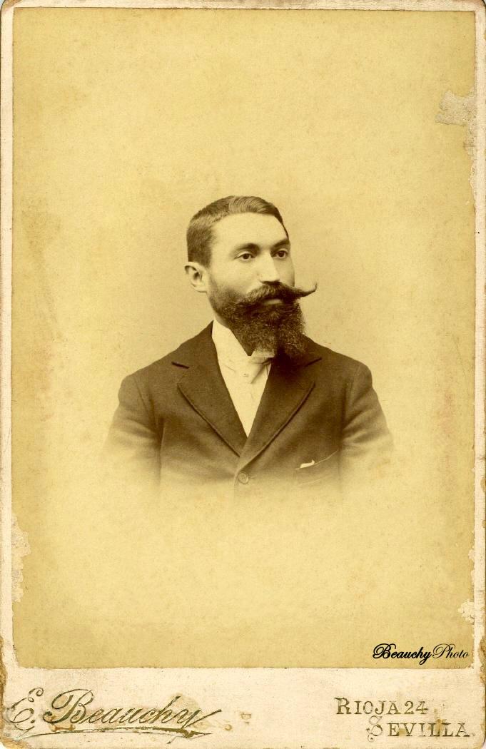 Retrato de un hombre con barba y bigote 1894
