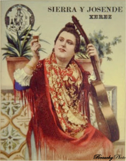 Retrato pintado de la flamenca La Melliza